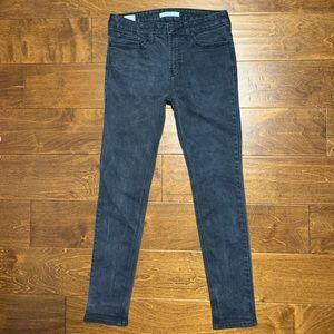 black denim stacked essential aesthetic jeans